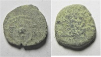 Ancient Coins - judaea. hasmonean ae prutah. as found
