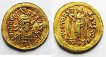 Ancient Coins - ROMAN IMPERIAL. Leo I (AD 457-474). AV solidus (20mm, 4.47g). Constantinople mint.