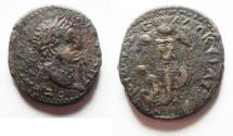 Ancient Coins - Judaea. Judaea Capta series. Caesarea Maritima under Titus (79-81 CE). AE 25. Very Attractive!