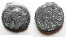 Ancient Coins - PTOLEMAIC EMPIRE. PTOLEMY VI 180-145 BC. AE24 . WITH ISIS