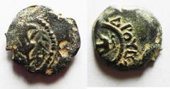 "Ancient Coins - Alexander Jannaeus AE ""Lily"" Prutah, 103 - 76 B.C.E."