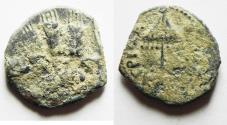 Ancient Coins - AS FOUND: Judaea. Herodian Dynasty. Agrippa I AE prutah