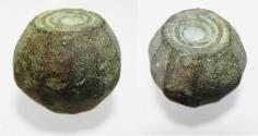 Ancient Coins - BYZANTINE / EARLY ISLAMIC BRONZE WEIGHT. 600 - 800 A.D.  57.81GM = 2 UNCIA OR 20 DIRHAMS