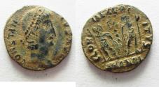Ancient Coins - CONSTANTIUS II AE 4 . DESERT PATINA