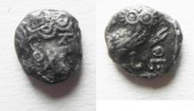 Ancient Coins - ARABIA, Southern. Saba'. Late 4th–mid 2nd centuries BC. AR tmrt – Quarter Unit (9mm, 0.98 g). Imitating Athens.