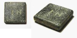 Ancient Coins - HOLY LAND. ROMAN BRONZE INSCRIBED WEIGHT OF 2 NUMISMATA. 8.46 GM. 300 - 400 A.D