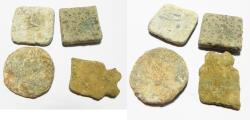 Ancient Coins - ANCIENT GREEK. LOT OF 4 LEAD WEIGHTS. 300 B.C