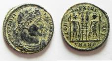 Ancient Coins - AS FOUND. ORIGINAL DESERT PATINA. CONSTANTINE I AE 3