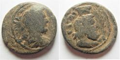 Ancient Coins - Judaea. Aelia Capitolina under Antoninus Pius (AD 138-161). AE 27mm, 14.61g.