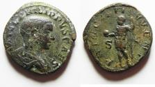 Ancient Coins - Philip II. As Caesar, AD 244-247. Æ Sestertius