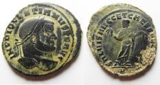 Ancient Coins - Constantine I. As Caesar, AD 306-309. Æ Follis . Carthago (Carthage) mint