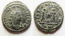 Ancient Coins - ORIGINAL DESERT PATINA. MAXIMIANUS AE FOLLIS