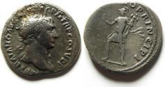 Ancient Coins - TRAJAN SILVER DENARIUS , AFFORDABLE NICE ROMAN SILVER