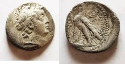 Ancient Coins - SELEUKID KINGS of SYRIA. Demetrios II Nikator.  129-125 BC. AR Didrachm