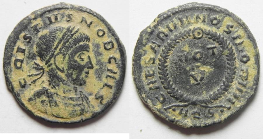 Ancient Coins - NICE CRISPUS AE 3 , DESERT PATINA