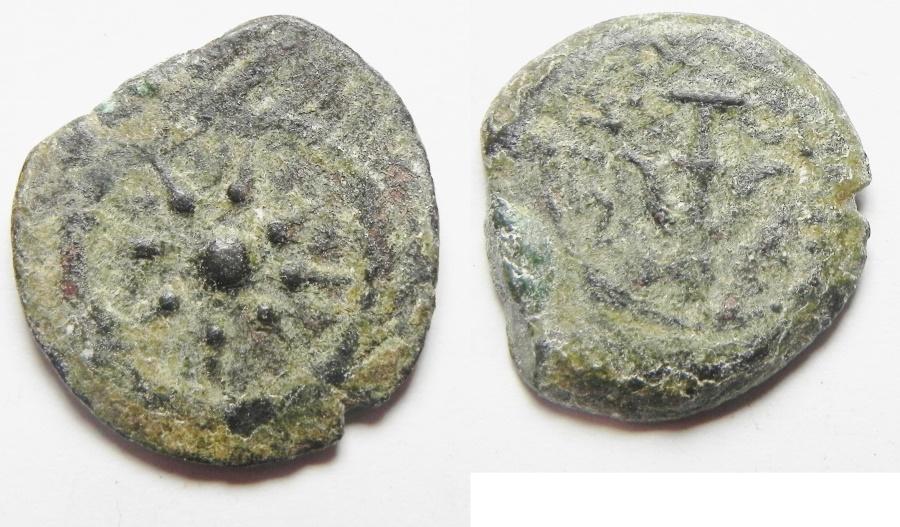 Ancient Coins - Judaea. Alexander Jannaeus, 103 - 76 BC. AE Prutah
