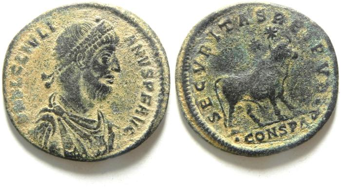 Ancient Coins - JULIAN II THE APOSTATE AE1 centenionalis , BEAUTIFULL DESERT PATINA