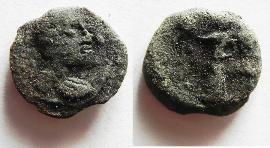 Ancient Coins - NABATAEAN KINGDOM. ARETAS IV LEAD COIN