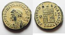 Ancient Coins - CONSTANTIUS II AE 3 . ORIGINAL DESERT PATINA. ALEXANDRIA