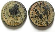 Ancient Coins - CONSTANTIUS II AE 3 , VERY NICE PATINA , ALEXANDRIA MINT