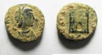 Ancient Coins - ORIGINAL DESERT PATINA: ROMAN IMPERIAL. Valentinian III (AD 425-455). AE 4 (12mm, 1.54g).