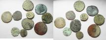 Ancient Coins - LOT OF 10 SILVER AND BRONZE ISLAMIC COINS. MOSTLY MAMLUK