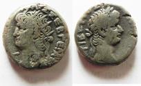 Ancient Coins - EGYPT, Alexandria. Nero. 54-68 AD. Billon Tetradrachm With Bust Of Tiberius