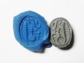 Ancient Coins - BEAUTIFUL PHOENICIAN GREEN JASPER STONE SCARAB , 500 B.C