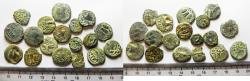 Ancient Coins - JUDAEA. LOT OF 18 BRONZE PRUTAH COINS. MIXED