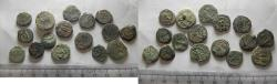 Ancient Coins - LOT OF 16 ANCIENT BRONZE COINS. MOSTLY JUDAEAN PRUTOT