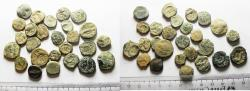 Ancient Coins - NABATAEANS OF PETRA. LOT OF 26 BRONZE COINS. AS FOUND