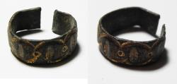 Ancient Coins - ANCIENT ROMAN GILDED BRONZE RING. 400 - 500 A.D