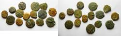 Ancient Coins - JUDAEA. LOT OF 15 AE PRUTOT COINS