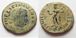 Ancient Coins - LICINIUS I AE FOLLIS. NICE QUALITY AS FOUND. DESERT PATINA