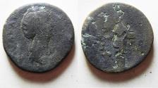 Ancient Coins - ROMAN IMPERIAL. FAUSTINA SENIOR AE SESTERTIUS