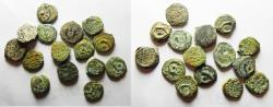Ancient Coins - GREEK . JUDAEA, MOSTLY HASMONEAN PRUTOT, SOME OTHERS. 15 COINS