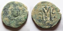 Ancient Coins - Justinian I. 527-565. Æ Follis .