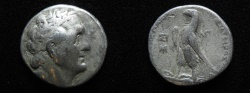 Ancient Coins - Ptolemaic kings. Ptolemy II Philadelphos (282-246 BC). AR tetradrachm (25mm, 13.78g). Sidon mint. Struck in regnal year 33 (253/2 BC).