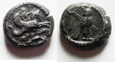 Ancient Coins - PHOENICIA, Tyre. Uncertain king. Circa 393-358 BC. AR Shekel