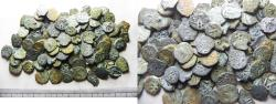 Ancient Coins - JUDAEA. LOT OF 100 WIDOW'S MITE COINS.