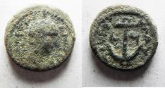 Ancient Coins - AS FOUND: JUDAEA, Tiberias. Trajan. AD 98-117. Æ 15