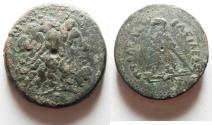 Ancient Coins - 40MM . 69.04GM: PTOLEMAIC KINGS of EGYPT. Ptolemy IV Philopator. 222-205/4 BC. Æ Tetrobol