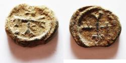 Ancient Coins - BYZANTINE LEAD SEAL. 800 - 1000 A.D