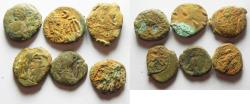Ancient Coins - LOT OF 6 ELYMAIS AE DRACHMS