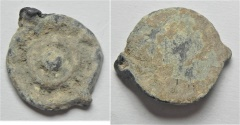 Ancient Coins - VERY RARE Alexander Jannaeus LEAD Prutah - Widow's Mite, 103 - 76 B.C.E.