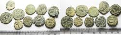 Ancient Coins - MOSTLY UMMAYYED. LOT OF 10 AS FOUND AE FALS COINS