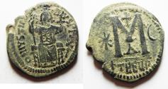 Ancient Coins - BYZANTINE BEAUTIFUL JUSTIN II AE FOLLIS. ANTIOCH