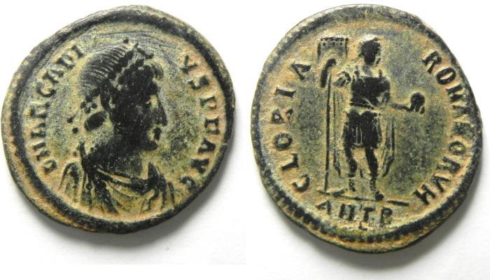 Ancient Coins - ARCADIUS AE 2 , ATTRACTIVE