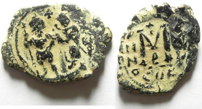 Ancient Coins - BYZANTINE : HERACLIUS FOLLIS , NICE DESERT PATINA