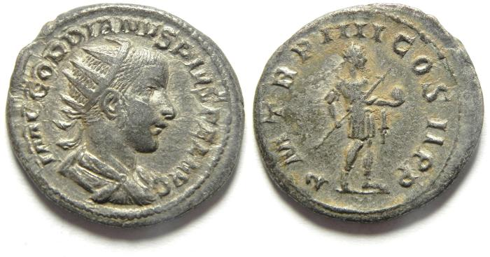Ancient Coins - BEAUTIFULL GORDIAN III AR ANTONINIANUS
